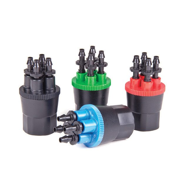 4-Outlet PC Drip Head Manifolds