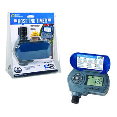 EVO 100 Waterproof Solar Powered Digital Hose End Timer (Tap Timer)