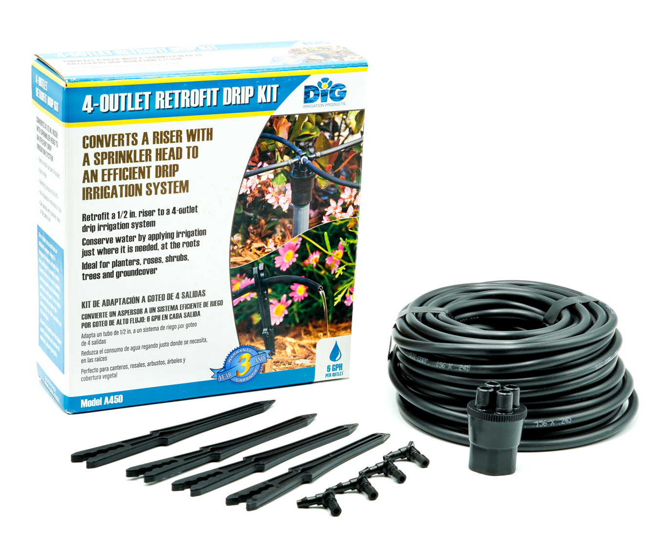A450 Four-Outlet Drip Manifold Kit