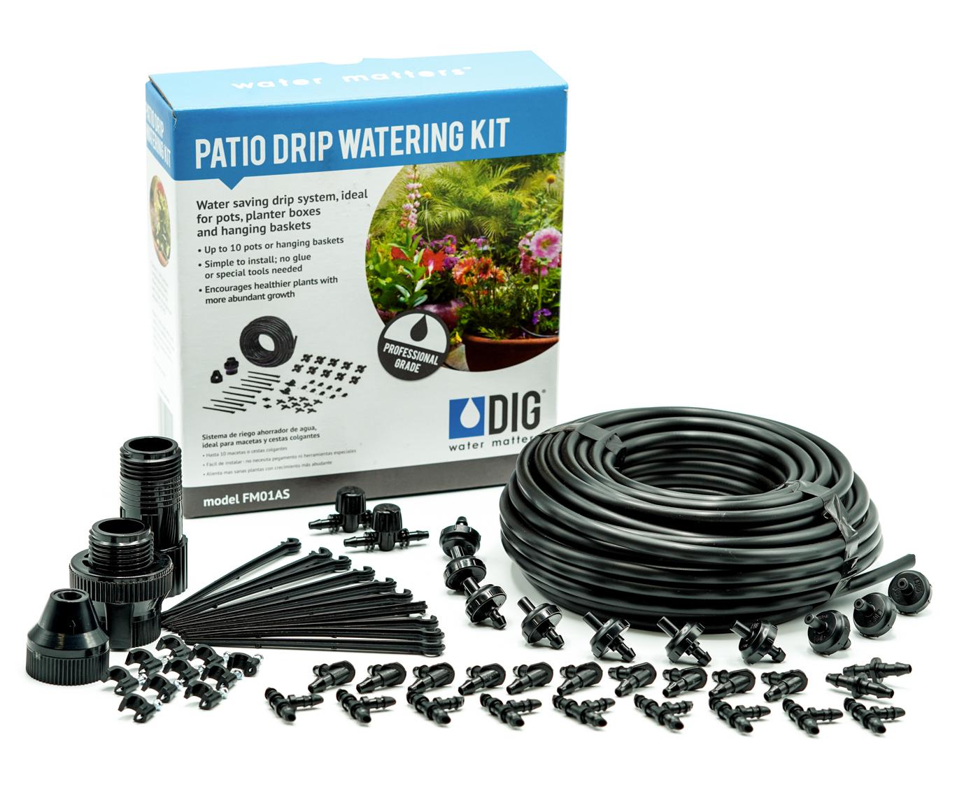 FM01AS Patio Drip Watering Kit