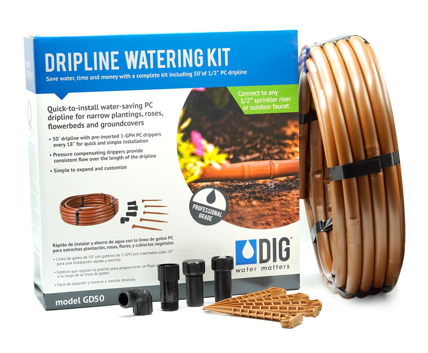 GD50 PC Dripline Watering Kit