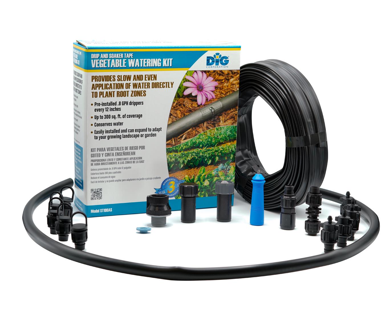 ST100AS Drip & Soak Tape Vegetable Watering Kit