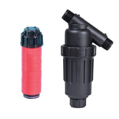 """3/4"""" & 1"""" MPT Plastic Filters with Disc Elements"""