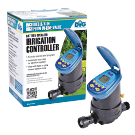 7001 Single Station Battery Operated Controller with 3/4 In line Valve