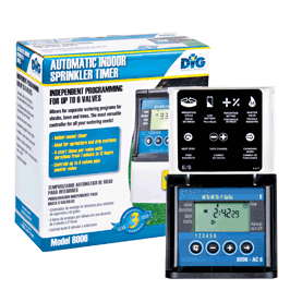 8006 Six-Station AC Timer with Independent Programming for Each Valve