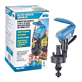 2006i Single Station Battery Operated Digital Controller with 3/4″ & 1″ Manual Valve Actuator