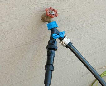 Drip Zone Faucet Connection Kit with a Two-Way Splitter
