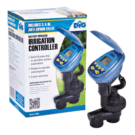 2008i Single Station Battery Operated Controller with 3/4″ Anti-Siphon Valve